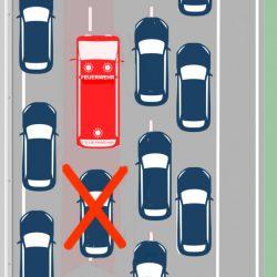 Hinter Einsatzfahrzeugen herfahren verboten