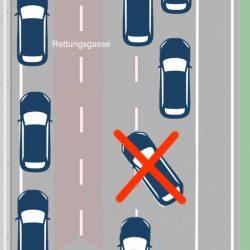 Spurwechsel vermeiden
