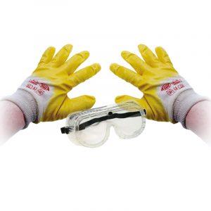 Schutzhandschuhe Brille