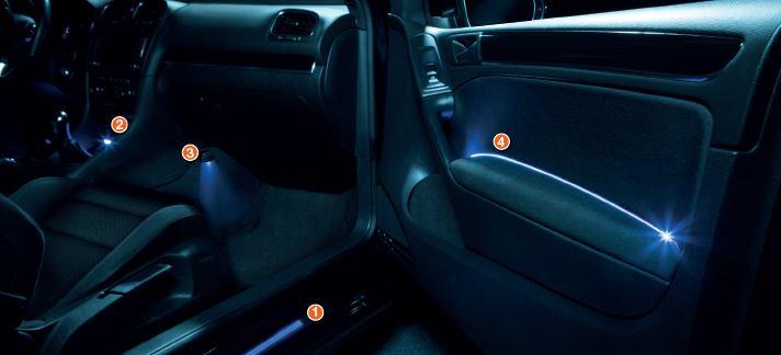 osram ledambient lichttuning f r den innenraum autoteile und einbauanleitungen. Black Bedroom Furniture Sets. Home Design Ideas